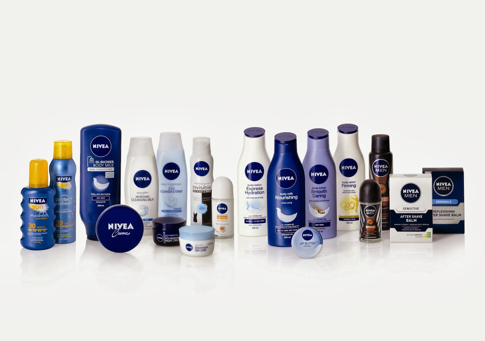 Nivea products all kinds