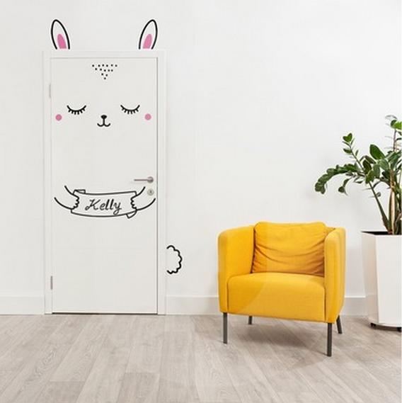 Bunny Room Door Stickers