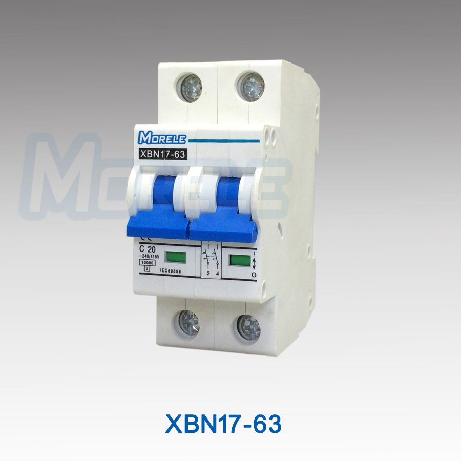 XBN17-63 6ka mini circuit breaker 2 pole 20a L7 mcb