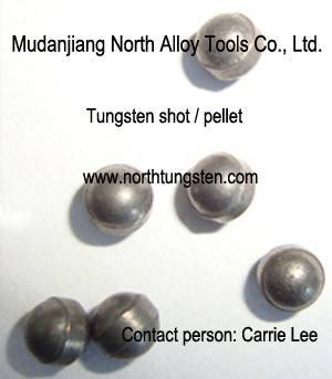 Tungsten shot for hunting or weight