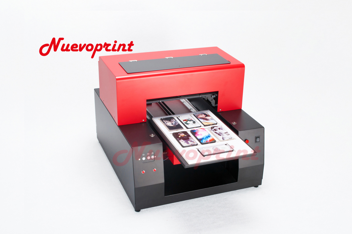 A4 Size Digital flatbed UV Printer printed on ribbon business card ...