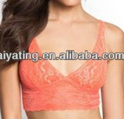high quality lace,soft,un-moulded,vest type,wireless,sexy,hot,fashion design ladies bra/brassiere/un