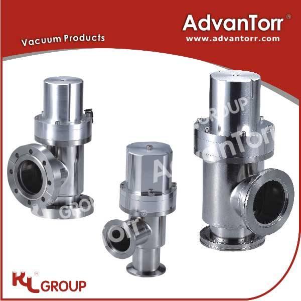 KL Group - AdvanTorr CF Flange Pneumatic / Air Angle Poppet Valves