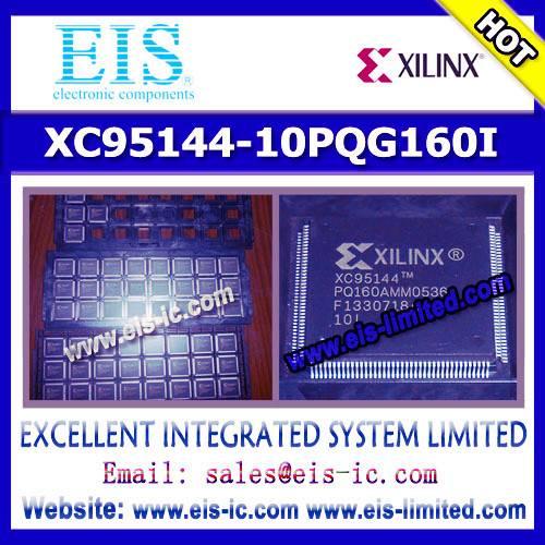 XC95144-10PQG160I - XILINX - IC CPLD 144MC 10NS 160PQFP