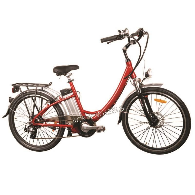"26"" Aluminum Frame Electric Bicycle with Lithium Battery (TDE-001A)"