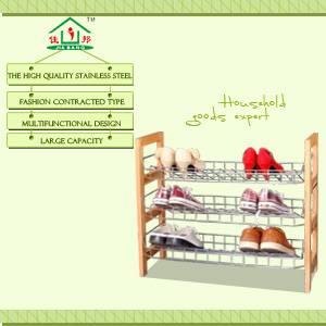 2014 popular wood shelf with metal basket