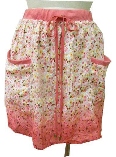 lady 100% cotton dip-dye woven skirts