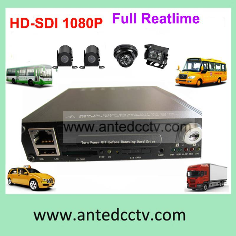 Shockproof H.264 1080P HDD 3G 4/8CH Bus DVR