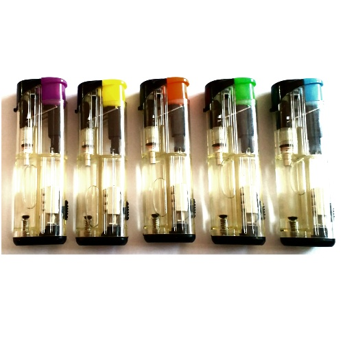 cigarette electronic windproof gas lighters with LED lamp
