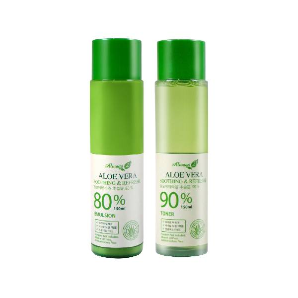 Always21 Soothing & Refresh Aloe Vera Toner & Emulsion