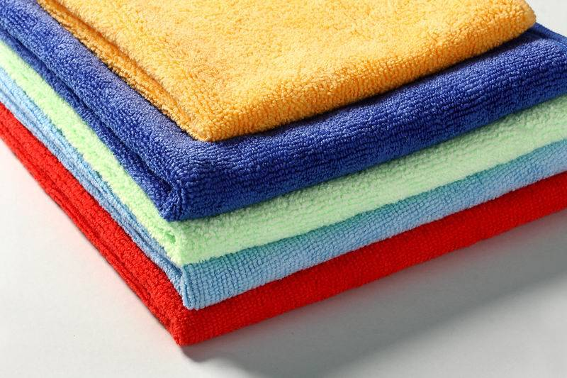 Warp knitting microfibre cloth