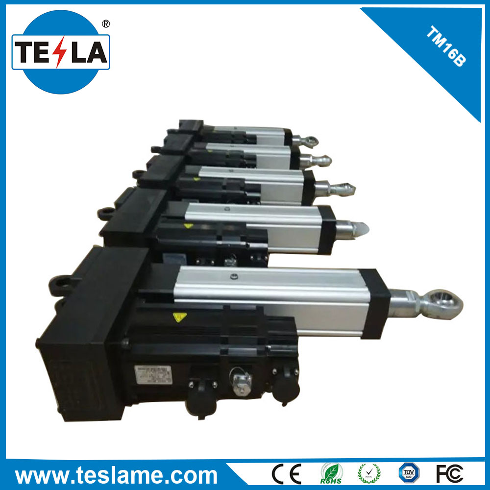 AC90-220V Industry 1000N dynamic linear actuator stroke 156mm for amusement park cinema chair 5d 6d