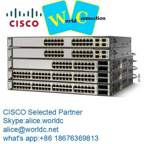 New C isco managed POE Switch WS-C3560X-48P-L 1 year warranty