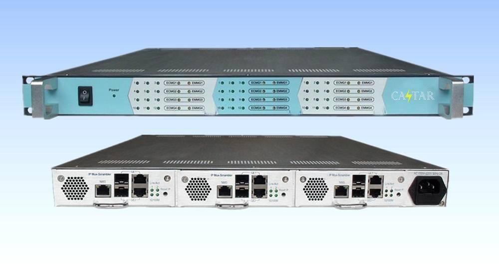 IP multiplexing scrambling QAM module