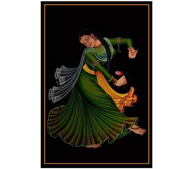 Ethnic Nirmal painting-Dancing lady