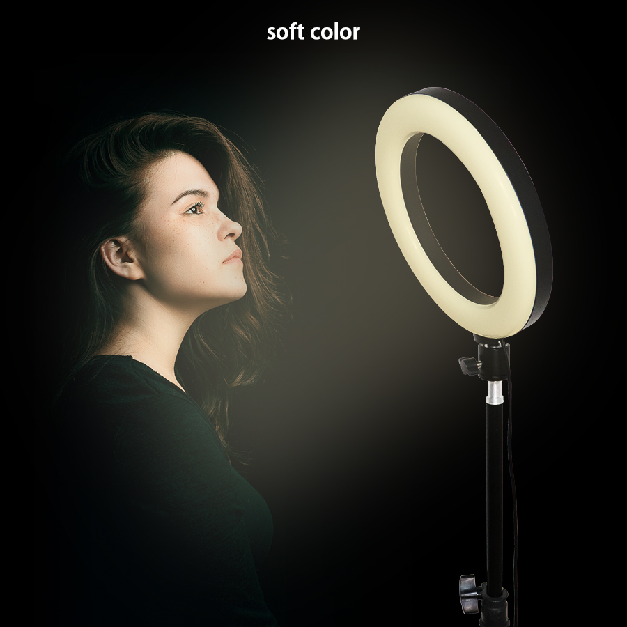 Multifunction Remote Control Live Broadcasting Makeup 8 inch LED Ring Light with Tripod Support