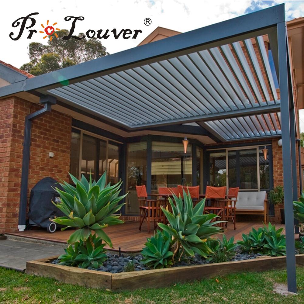 Aluminum window shutter,opening roof,waterproof pergola covers