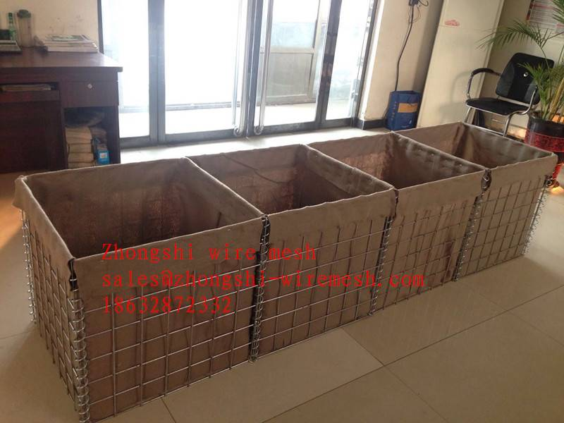 Military HESCO Barrier, welded gabion box , welded wire mesh construction