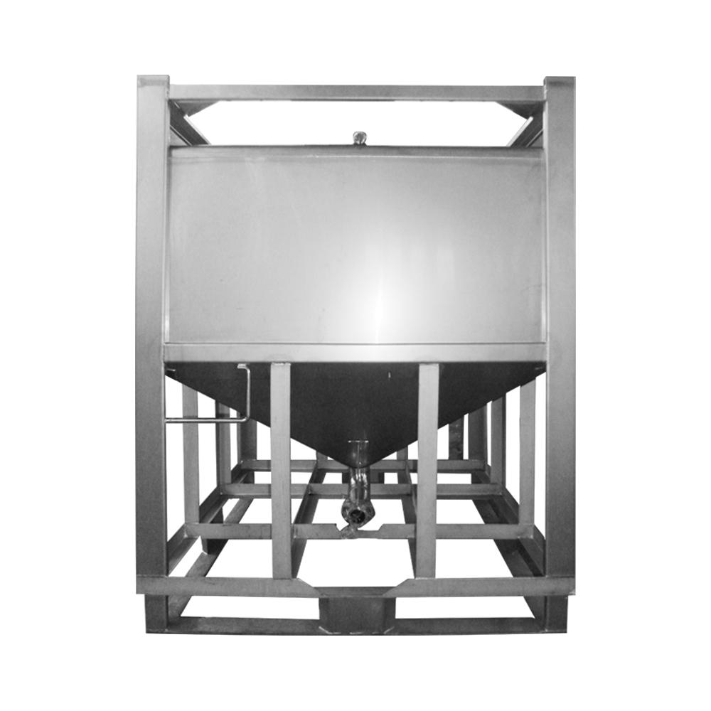 1000L rectangular stainless steel adhesive storage tank