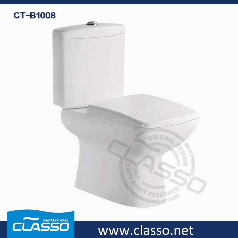 New Design Middle East style washdown toilet new design 4-inch CLASSO two piece closet CT-B1008