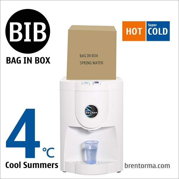 DELTA4 Polar-White Desktop BIB Water Dispenser Bag in Box Water Cooler