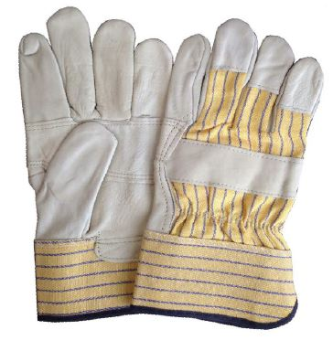Sell cow grain leather work gloves with patch palm