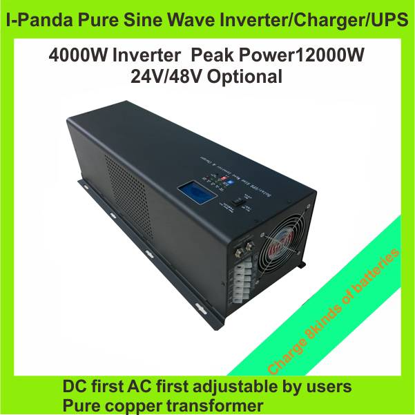 New 4000W 4KW  inverter DC to AC 4000W UPS Inverter Pure Sine Wave Power Inverter With Charger