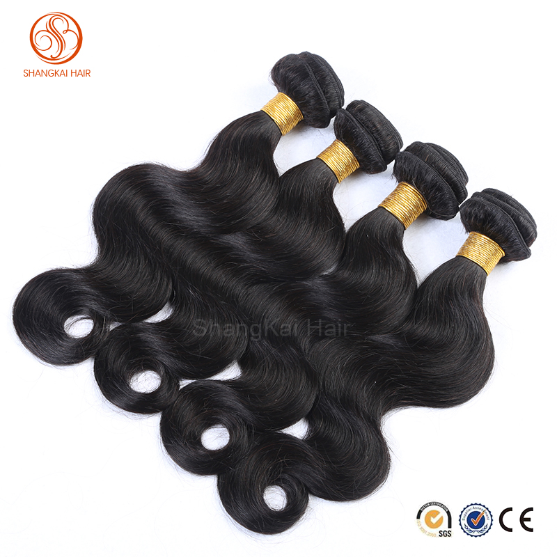 Human Hair natural coloe Body Wave Human Hair Weft