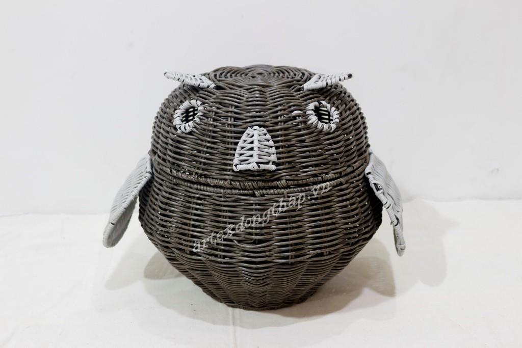 New design poly rattan animal basket - CH4081A-1MC