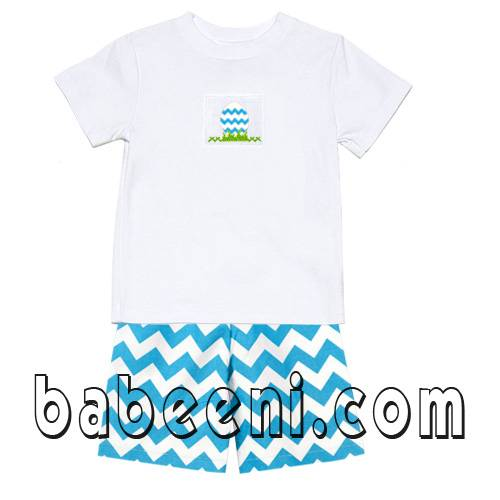 Easter smocked boy shorts set