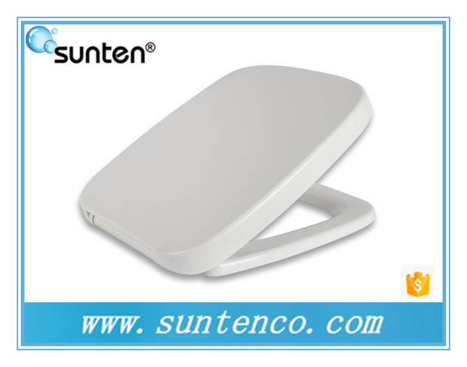 One Push Button Bathroom Accessories Hygienic Rectangular Toilet Seat