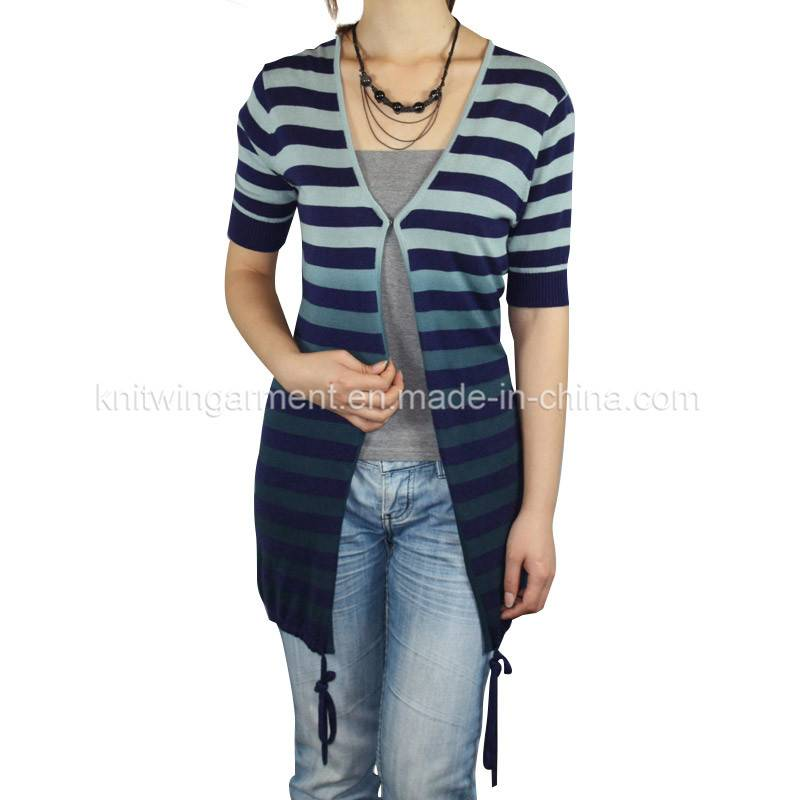 Fashion Women Knitted short Sleeve Sweater cardigan