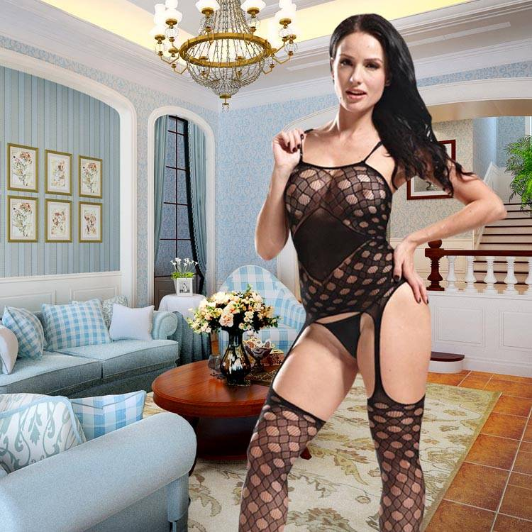 Sexy Hot Net Bodystocking Sexy Lingerie Suspender Pantyhose Tube Pantyhose