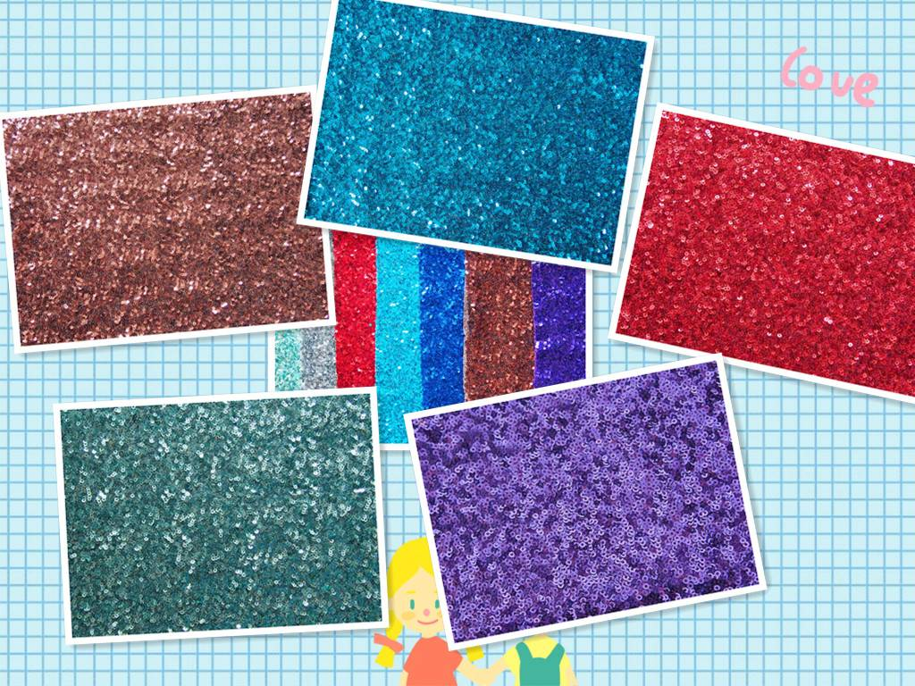 sequin embroidery  evening fabric
