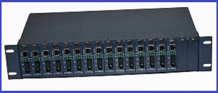 Unmanaged Gigabit Media Converter 17Slots Rack Chassis