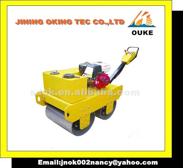 walk behind double drum vibratory road rollers,hand guided road roller