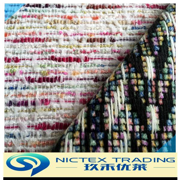 fashion fancy tweed fabric for women