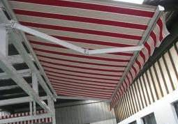 Laminated PVC Stripe Tarpaulin Awning Material for Canopy