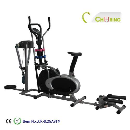 Elliptical trainer with massager