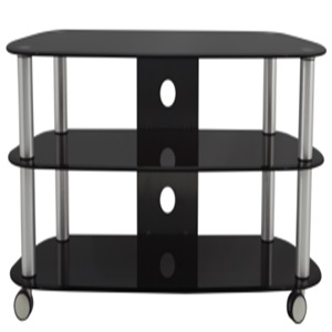 movable glass tv stand