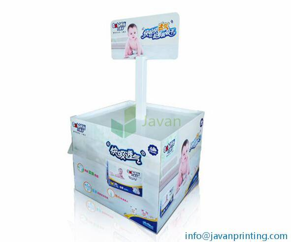 Baby Diapers Pallet Display Dump Bins