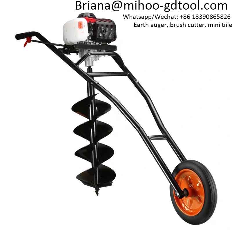 Gas Powered Two Man Earth Auger 52cc Ahoyadoras Motor 2 Post Hole Borer Broca ahoyador