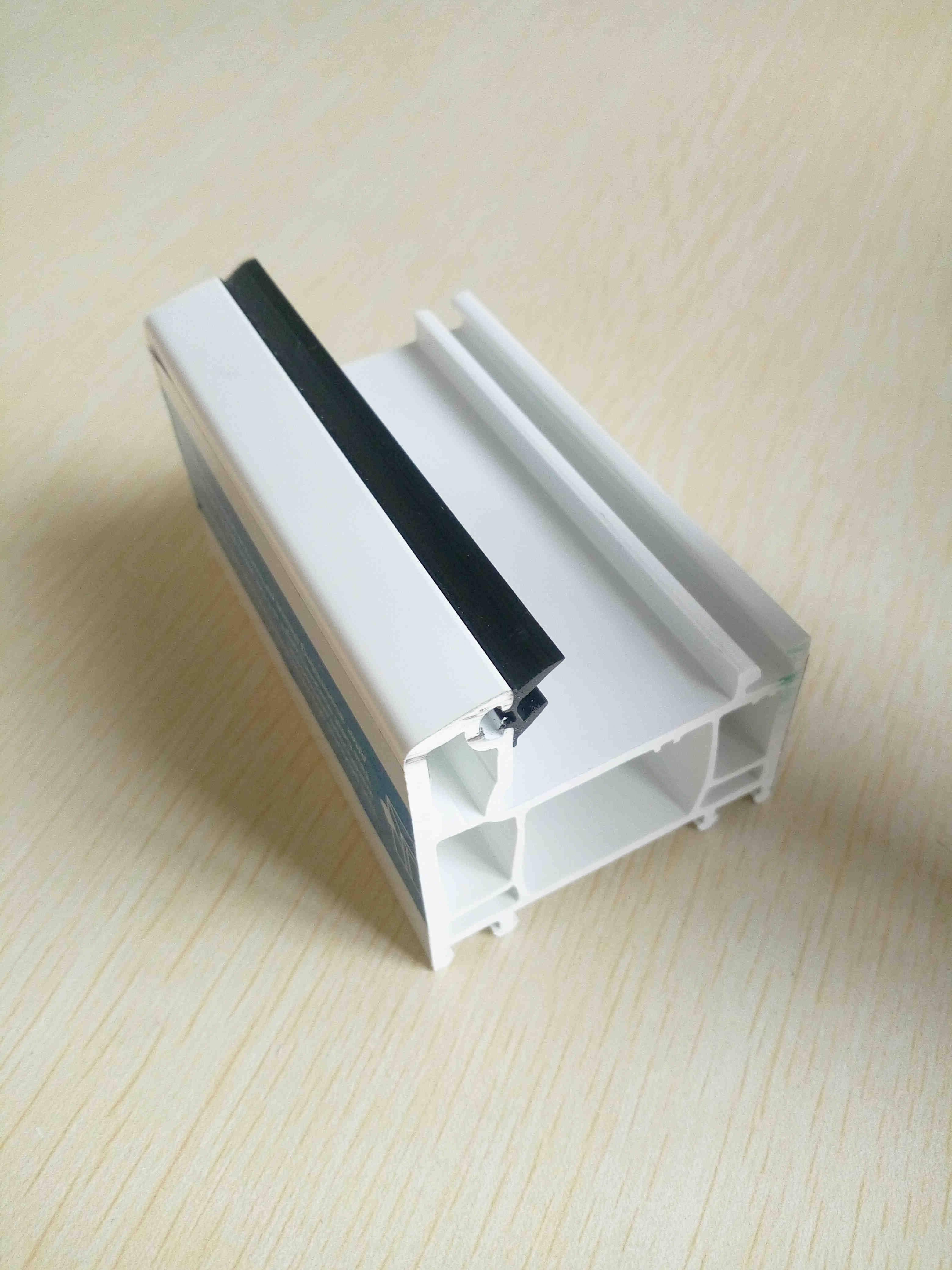 60mm white casement window plastic pvc profile for window and door
