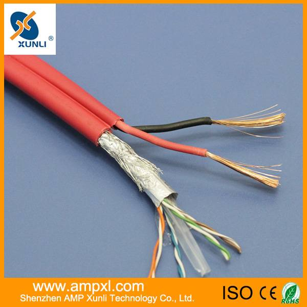 CAT5E+2DC siamese cable