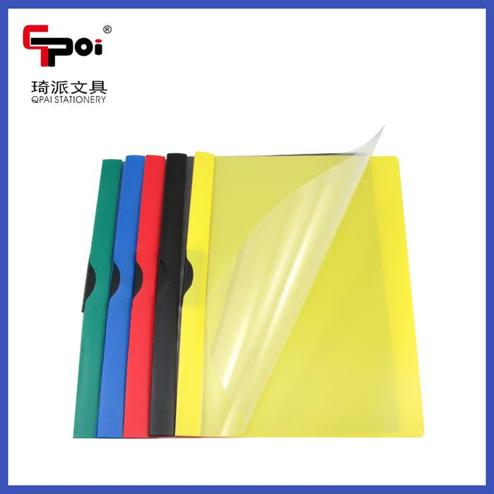 Wenzhou Office & School Stationery Supplier PP A4 Clear Report File Solid File Folder