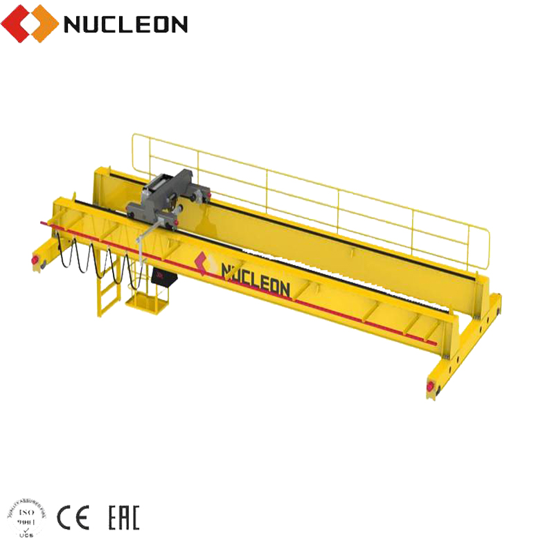 Widely used QD double beam motor driving traveling overhead bridge crane 20t price for sale
