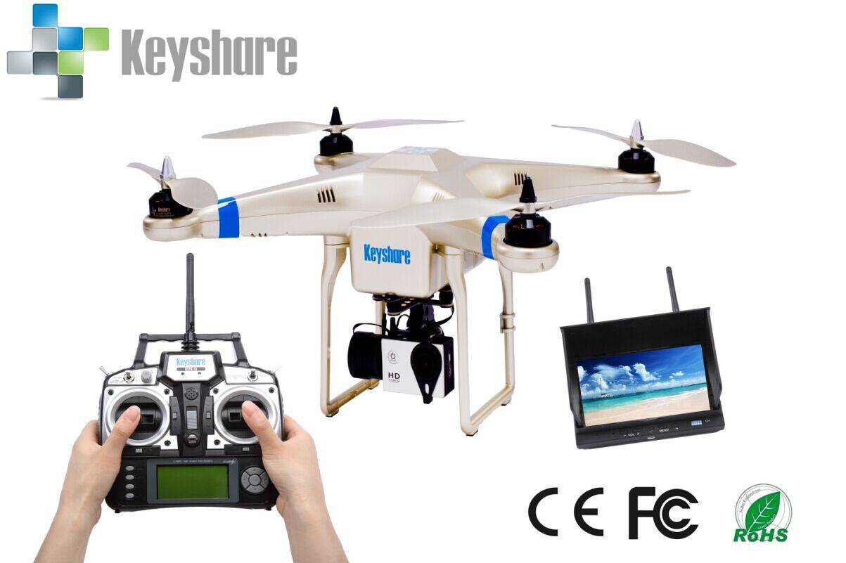 RC quadcopter with camera,2.4g middle 7 Channel smart quad copter RC drone for China toys