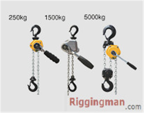 Subminiature Hand Chain Lever Hoist Riging hardware.