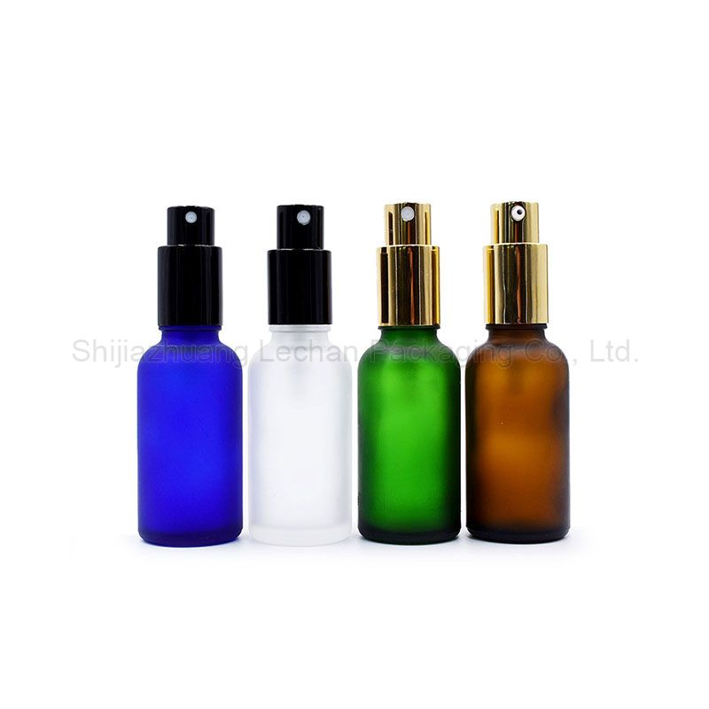 Customized Amber Green Blue Clear Glass Dropper Bottles