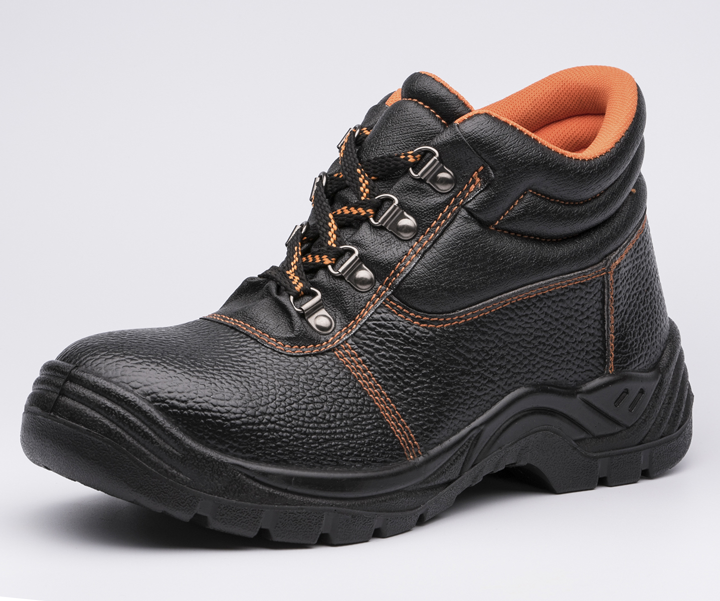 safety work shoes 8055 embossed leather pu outsole